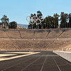 Athens, Olympic Stadium (Panathenaic Stadium), one of oldest in the world and the only one made entirely of marble.  First modern Olympic Games held here in 1896. Reconstructed from the remains of the ancient Greek Panathenaic stadium.
