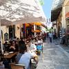 Athens, Plaka shopping neighborhood.  Great sidewalk cafés, great ambiance.