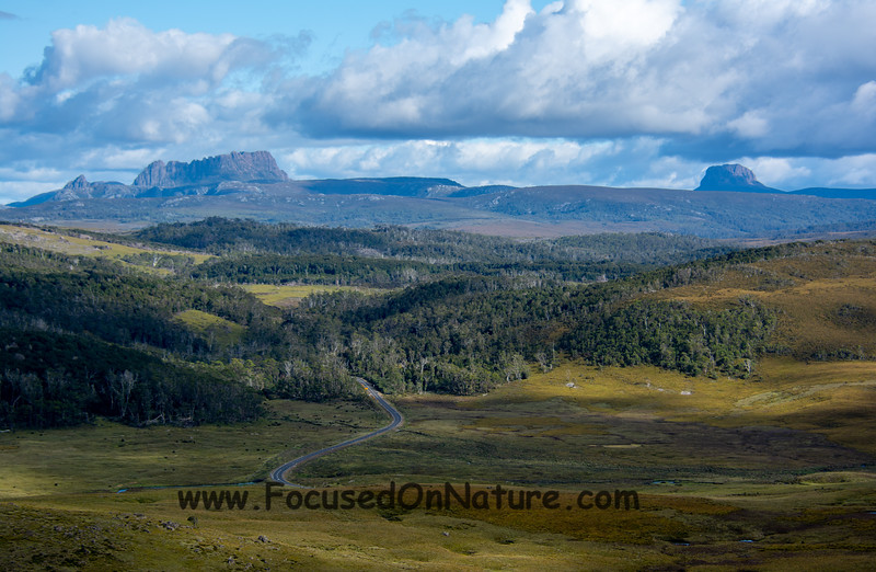 View of Cradle Mountain National Park