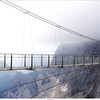 Suspensionbridge on top of the Dachstein mountain, Austria