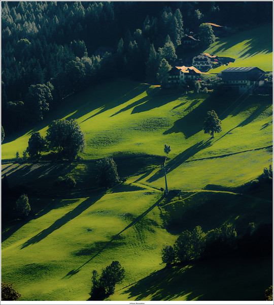 The hillside of Rohrmoos-Untertal, Schladming, Austria