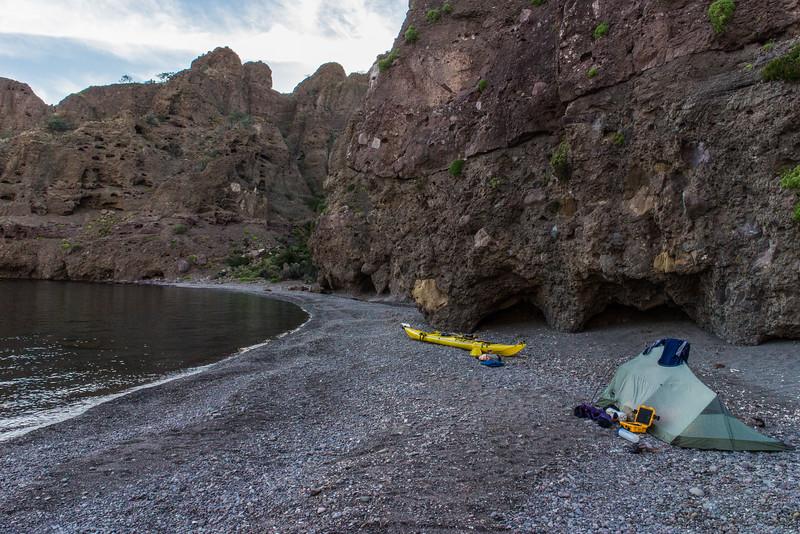 Campsite on the east side of Isla Danzante