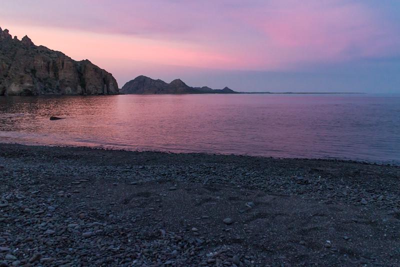 Sunset on Isla Danzante