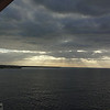February 4th:  We're up early for our day at Half-Moon Cay in the Bahamas.  At least the sun is trying to peek through the clouds.