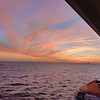 Our first caribbean sunset on board the ship.