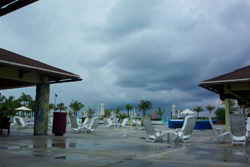 Yup, it looks like the Club Med has gotten rained on.