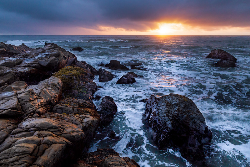 Waning Storm at Sunset - Cambria, CA