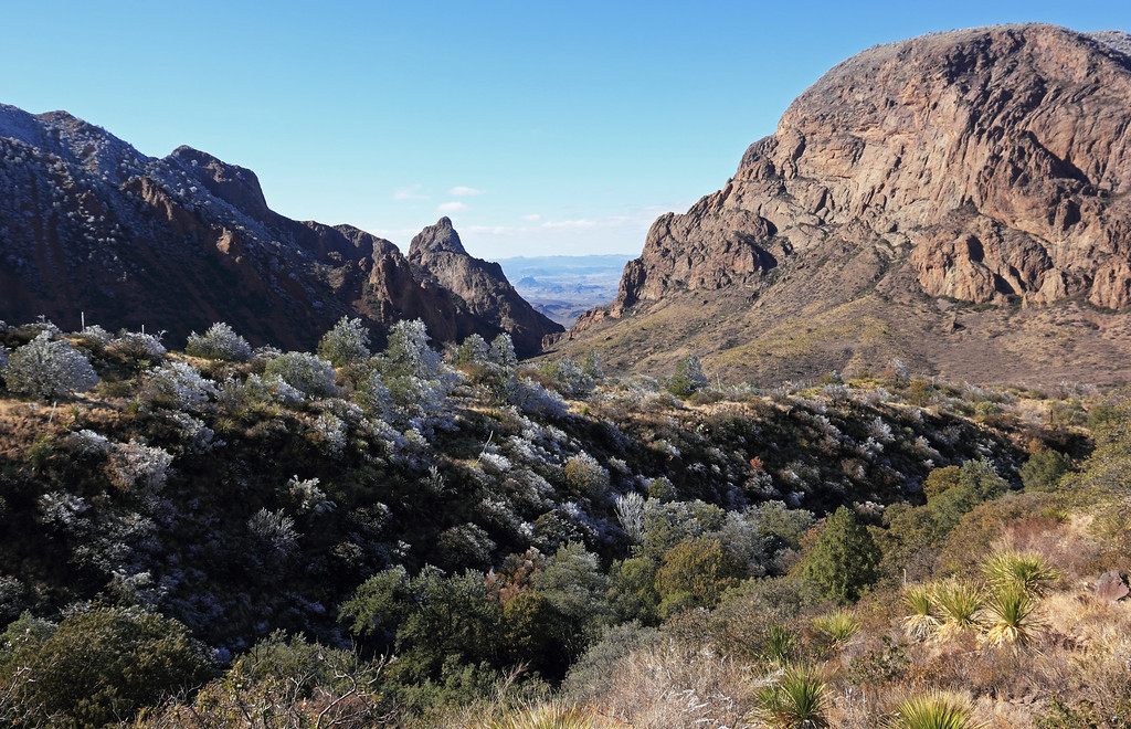 "View in Chisos Basin towards the ""window"""