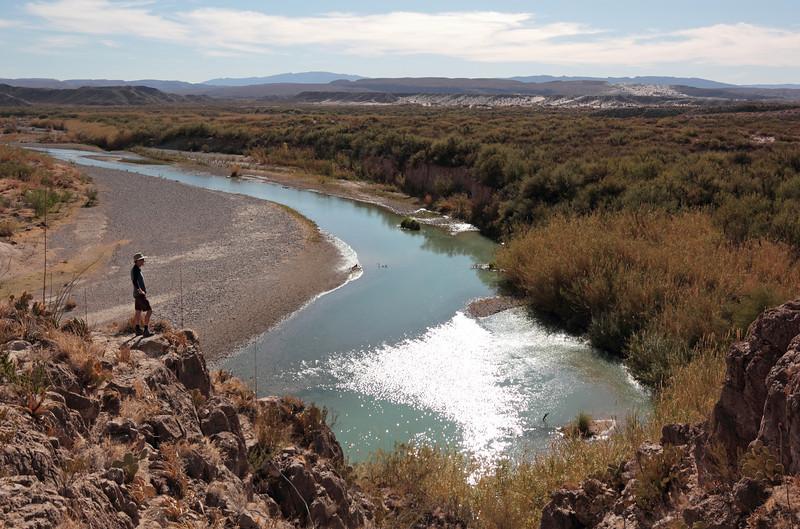 Overlooking the Rio Grande near Boquillas canyon