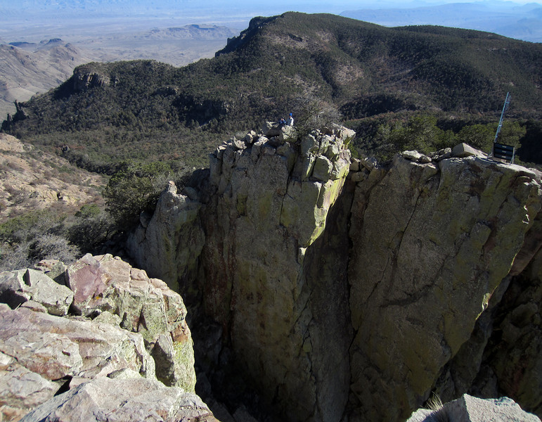From the top of Emory Peak looking towards the south