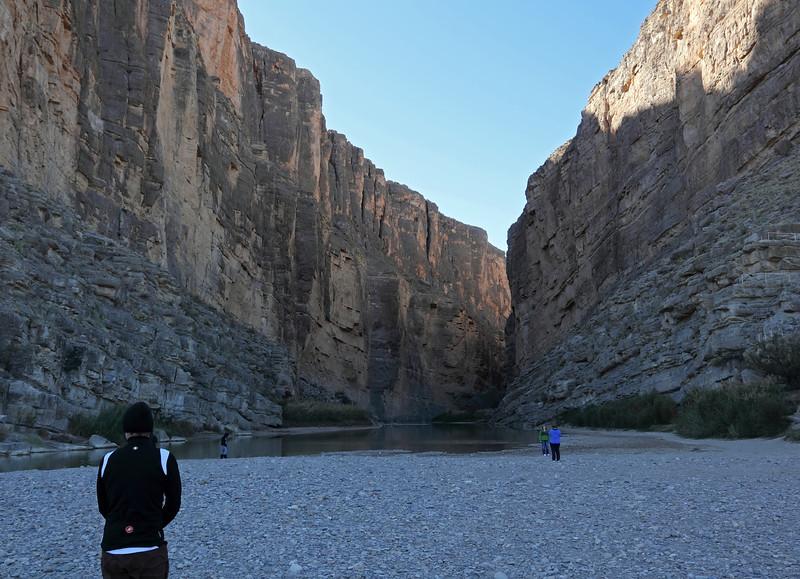 South end of Santa Elena canyon - Rio Grande river