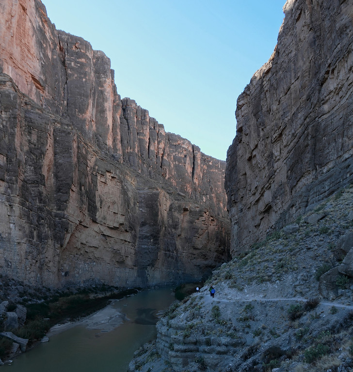 Trail up Santa Elena canyon