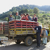 Our Group Loaded into the Vehicle for the Ride Up the Hill