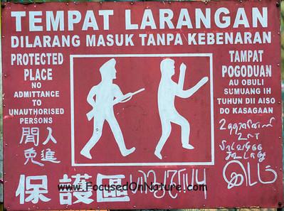"Malaysian ""No Trespassing"" Sign"