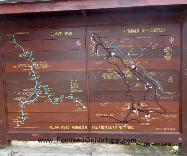 Mt Kinabalu Map