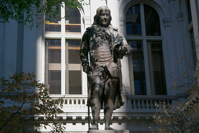 Statue of Benjamin Franklin at the Old Boston City Hall