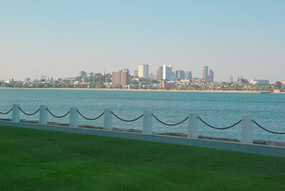 View of downtown Boston from the Kennedy Library