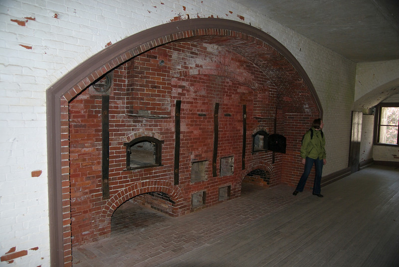 This is inside the old bakery at Fort Warren