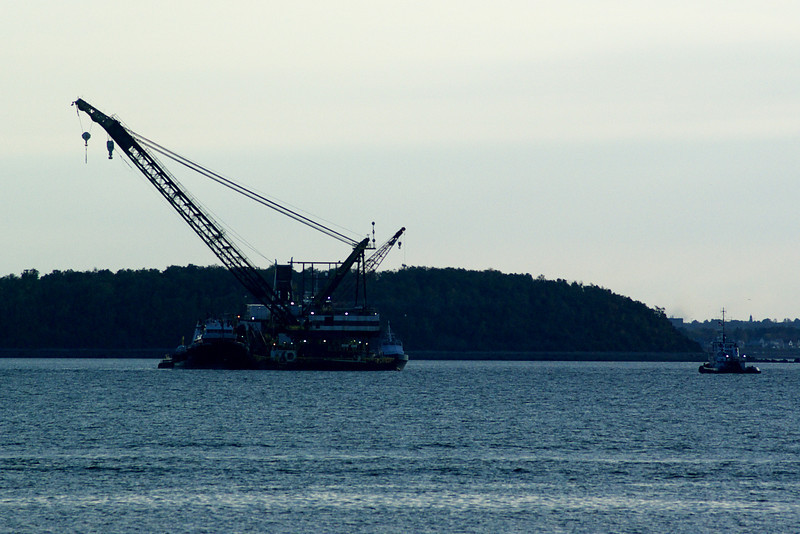 This is a dredge seen near Georges Island