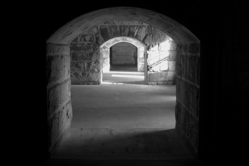 This is a corridor view in the fort without a flash