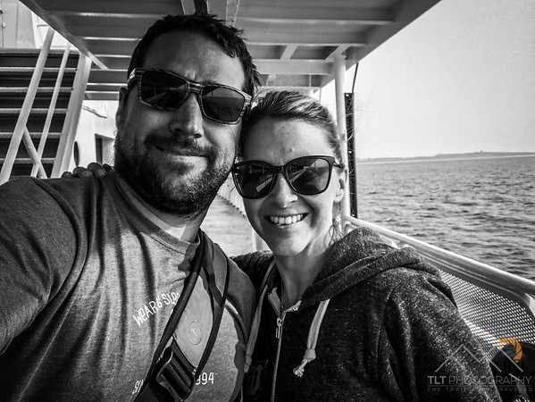 Emily and I on the Black Ball ferry to Victoria from Port Angeles.