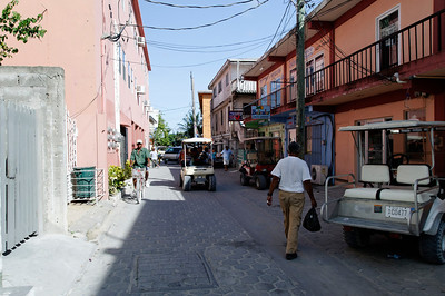 A side street in San Pedro, Ambergris Caye, Belize.