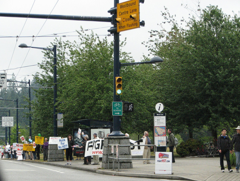 Demonstration in Vancouver, Canada
