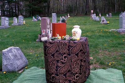 Urns at Gravesite