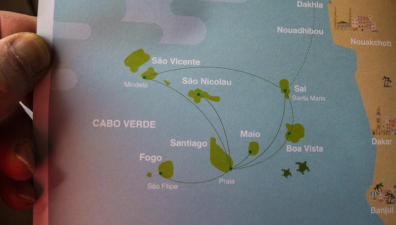 Map. Cape Verde Islands