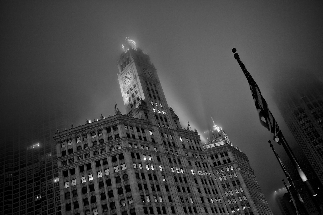 Wrigley Building, Chicago (Black & White)