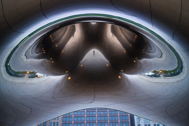 Looking into the Bean - Millenium Park, Chicago