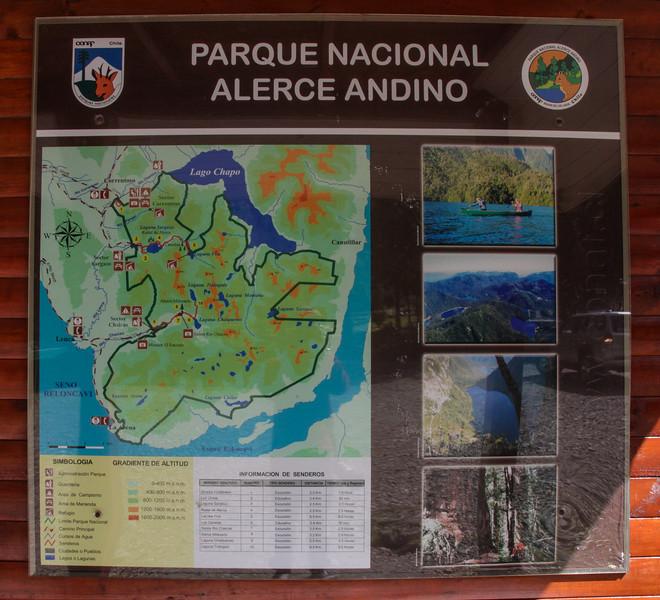 Map, Parque Nacional Alerce Andino