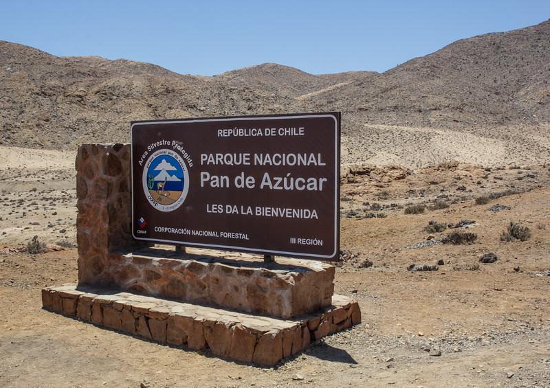 Sign, Parque Nacional Pan de Azucar