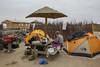 Campsite near the coast