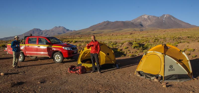 Campsite and landscape