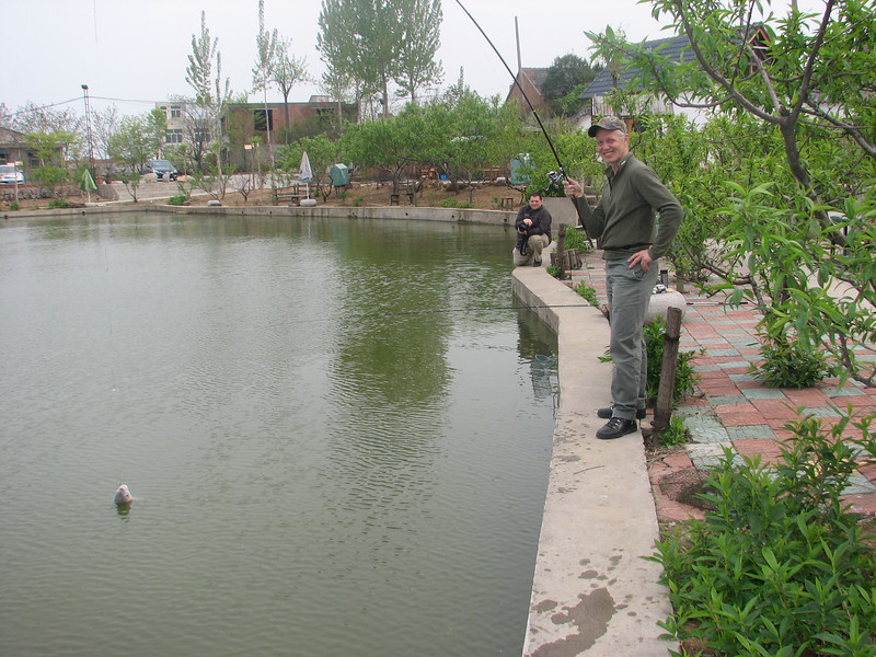 fishing with team of ICVC, Huainan