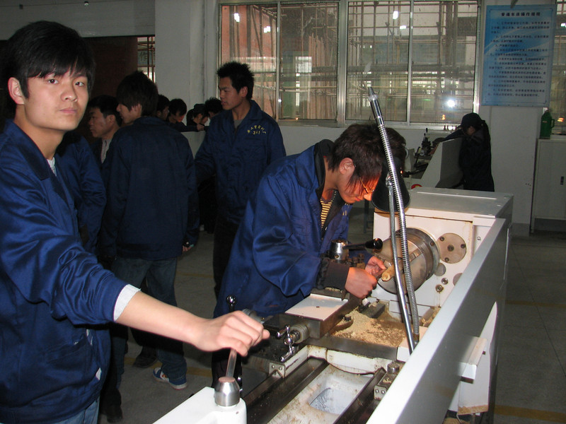 working with a lathe, ICVC, Huainan