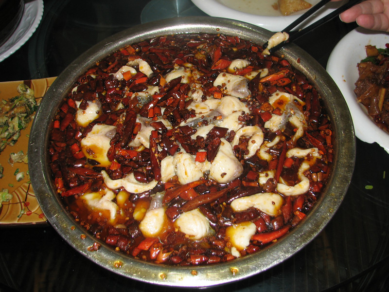 our own catched fish, China dish, Huainan