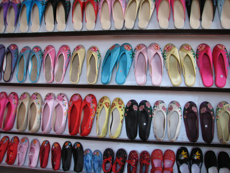 colourful shoes, Hongcun, Ming & Qing dynasties (Unesco World Heritage Site)