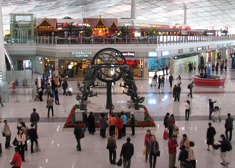 the new terminal of Beijing airport