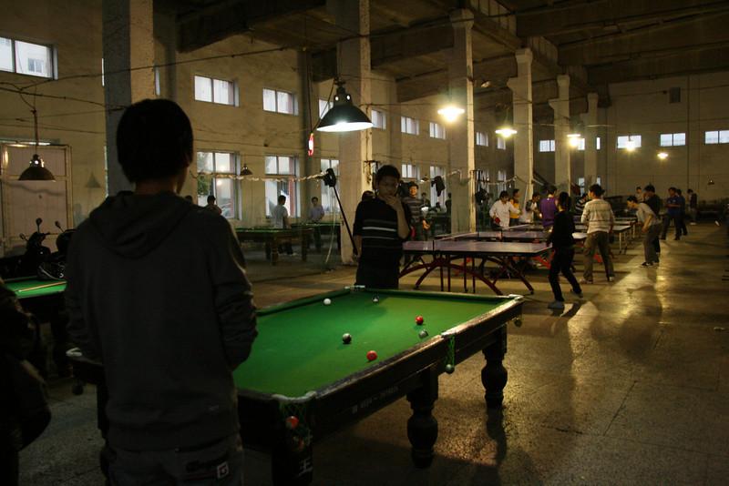 snooker and ping-pong playing students, University Anhui, Huainan