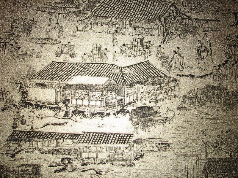 old drawing about the life during the Ming dynasty