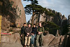 Mr. Ing, Raymond, Emily and Marijn in the front of the welcome tree, Natonal Park Huangshan, Anhui, East China
