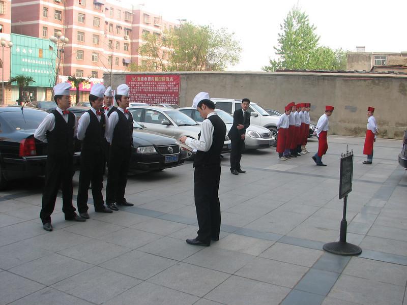 changing of the kitchen reataurant-staff, Huainan, E. China