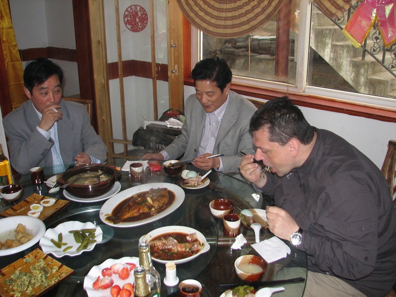 eating fresh fish, ICVC, Huainan