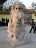lion statue, Huainan citypark