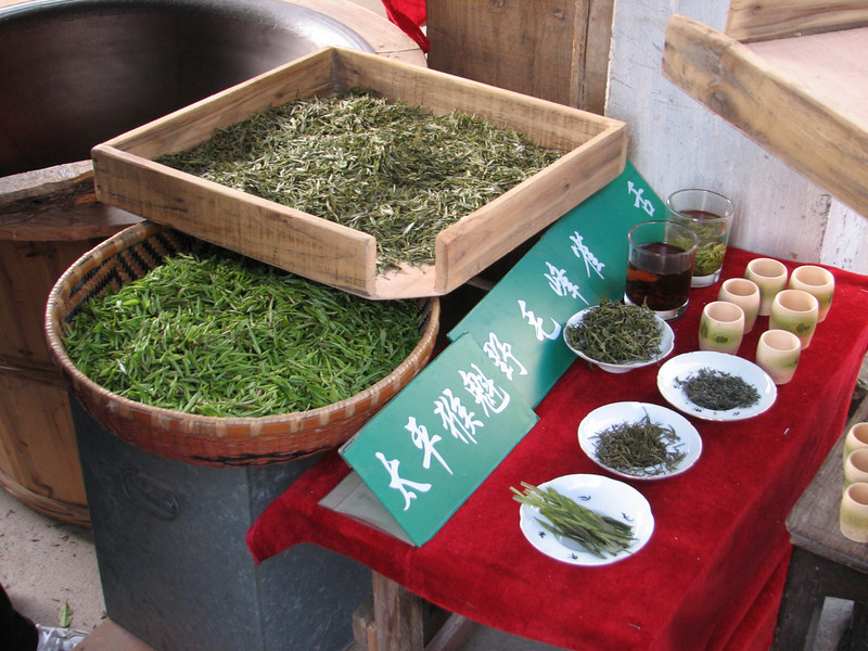 green tea, the common Chinese drink, Hongcun, Ming & Qing dynasties (Unesco World Heritage Site)