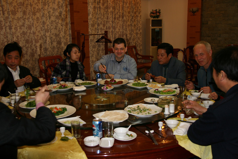 welcome diner with the vice- and president of ICVC, Mr. Wang and Mr. Yau. Emily our interpreter, Huainan