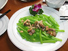 fish and greenstuff, China dish