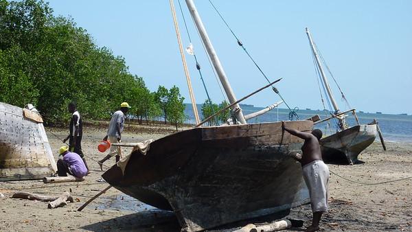 The boatyard on Chole Mjini